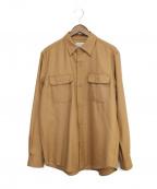 WACKOMARIA(ワコマリア)の古着「ワークウールシャツ」|カーキ