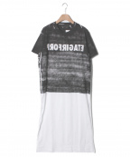 DISCOVERED(ディスカバード)の古着「プリントTシャツ」|ブラック×ホワイト