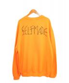 SELF MADE(セルフメイド)の古着「スウェット」 オレンジ