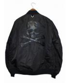 A BATHING APE × mastermind japan(ア ベイシング エイプ x マスターマインド ジャパン)の古着「MA-1ジャケット」 ブラック