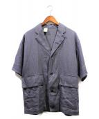 N.HOOLYWOOD(エヌハリウッド)の古着「リネンジャケット」 ネイビー