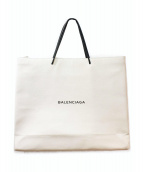 BALENCIAGA(バレンシアガ)の古着「ショッピングトートバッグ」|アイボリー