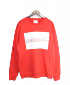 Calvin Klein Est. 1978(カルバンクライン)の古着「スウェット」 レッド