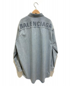 BALENCIAGA(バレンシアガ)の古着「19SS/バッグロゴウォッシュドデニムシャツ」|インディゴ