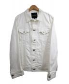 1piu1uguale3(ウノピュウノウグァーレトレ)の古着「デニムジャケット」|ホワイト