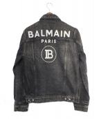 BALMAIN(バルマン)の古着「ロゴデニムジャケット」|グレー