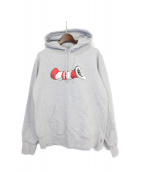 SUPREME(シュプリーム)の古着「Cat in the Hat Hooded Sweatshi」|グレー