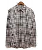 JOHN LAWRENCE SULLIVAN(ジョンローレンスサリバン)の古着「オーバーチェックシャツ」|グレー