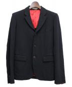 COMME des GARCONS Homme Plus(コムデギャルソンオムプリュス)の古着「ポリ縮絨ジャケット」 ブラック