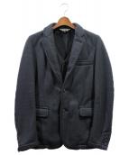 COMME des GARCONS HommePlus(コムデギャルソンオムプリュス)の古着「ライナーベスト付ネップジャケット」 ネイビー