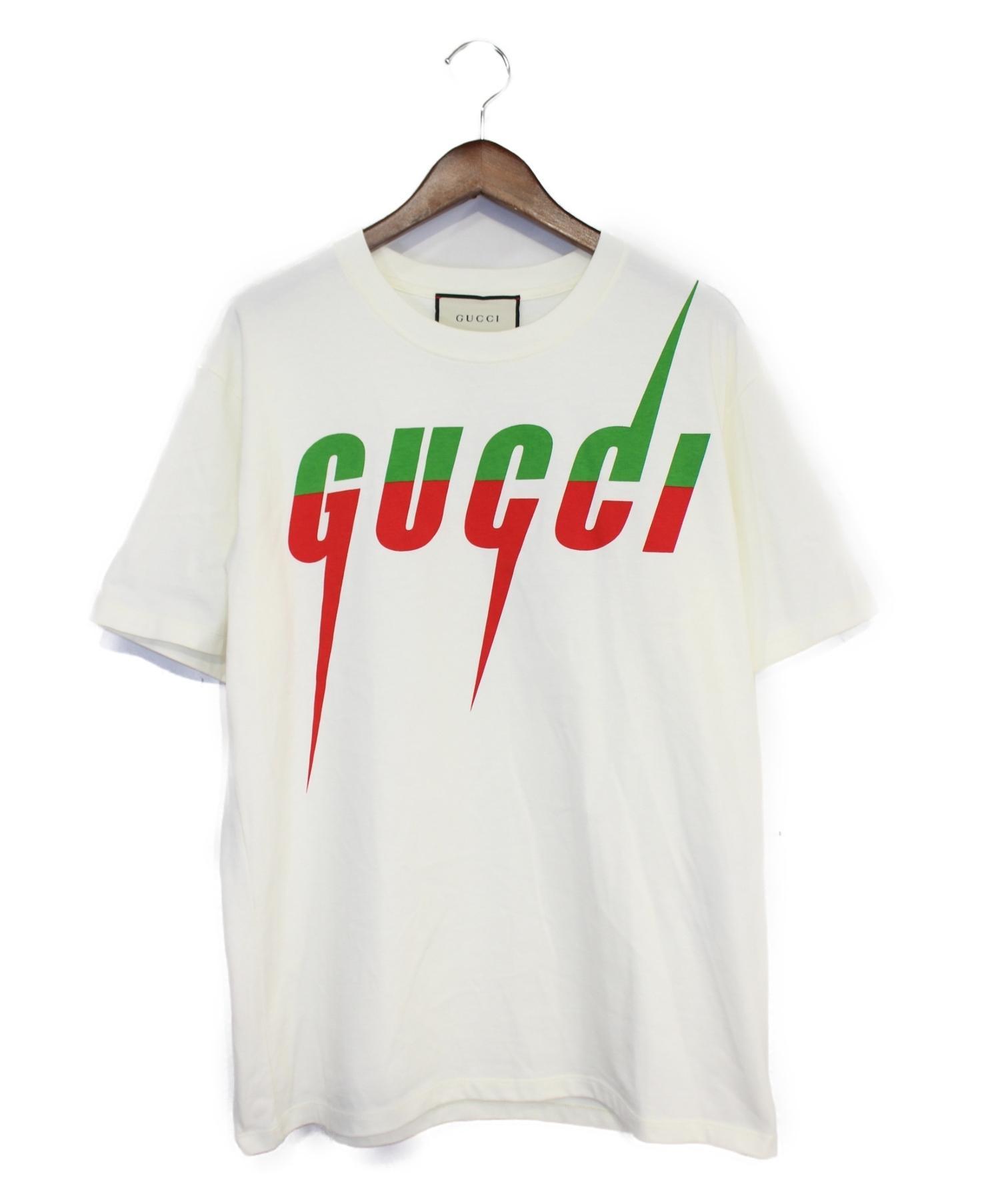 sale retailer 8c292 9637a [中古]GUCCI(グッチ)のメンズ トップス ブレードロゴTシャツ
