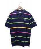 BILLIONAIRE BOYS CLUB(ビリオネアボーイズクラブ)の古着「ボーダーポロシャツ」|ネイビー