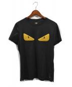 FENDI(フェンディ)の古着「アイスタッズモンスターTシャツ」|ブラック