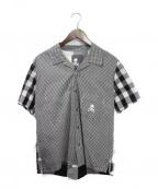 Mastermind JAPAN()の古着「 再構築チェック半袖シャツ」|ホワイト×ブラック