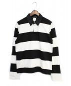 Mastermind JAPAN(マスターマインドジャパン)の古着「ラガーシャツ」|ホワイト×ブラック
