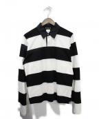 Mastermind JAPAN(マスターマインド ジャパン)の古着「ラガーシャツ」|ホワイト×ブラック