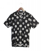Mastermind JAPAN(マスターマインドジャパン)の古着「ポルカドット半袖シャツ」|ダークグレー