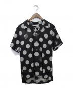 Mastermind JAPAN(マスターマインド ジャパン)の古着「ポルカドット半袖シャツ」|ダークグレー