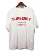 BURBERRY(バーバリーズ)の古着「HorseferryロゴプリントTシャツ」|ホワイト