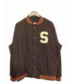 Supreme(シュプリーム)の古着「スタジャン」|ブラウン