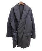 COMOLI(コモリ)の古着「中綿ショールカラーコート」|ブラック