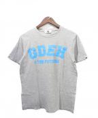 GOOD ENOUGH(グッドイナフ)の古着「GDEHロゴTシャツ」 グレー