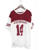 DESCENDANT(ディセンダント)の古着「ナンバリングTシャツ」|レッド×ホワイト