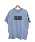 DESCENDANT(ディセンダント)の古着「BOXデザインTシャツ」|ブルー
