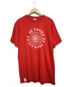 DESCENDANT(ディセンダント)の古着「プリントTシャツ」|レッド