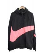 NIKE(ナイキ)の古着「ビッグスウォッシュジャケット」 ブラック