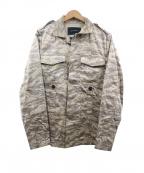 1piu1uguale3(ウノピゥウノウグァーレトレ)の古着「カモフラージュジャケット」|ベージュ