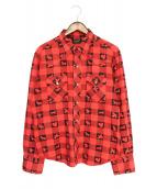 TENDERLOIN(テンダーロイン)の古着「ウィンチェスターシャツ」 レッド