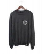 RAF SIMONS(ラフシモンズ)の古着「Knitted roundneck sweater 」|グレー