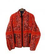 SUPREME(シュプリーム)の古着「バンダナフリースジャケット」 レッド