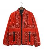 SUPREME(シュプリーム)の古着「Reversible Bandana Fleece Jack」 レッド