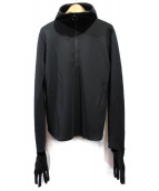 TOGA PULLA(トーガ プルラ)の古着「19AW Tricot Jersey Hoodie Top」|ブラック