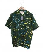 Aloha Blossom(アロハブロッサム)の古着「HANABI ALOHA SHIRTS」 グリーン
