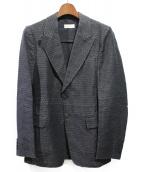 DRIES VAN NOTEN(ドリスヴァンノッテン)の古着「ジャガードテーラードジャケット」 ブラック