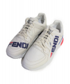 FENDI(フェンディ)の古着「18AW FENDI MANIA スニーカー/× FILA」|ホワイト