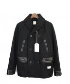 BEDWIN(ベドウィン)の古着「Pコート」 ブラック