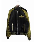 BALMAIN(バルマン)の古着「ボンバージャケット」|ブラック×ゴールド