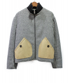 LOEWE(ロエベ)の古着「ウールジャケット」 ホワイト×ブラック
