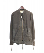 GREG LAUREN(グレッグローレン)の古着「ミリタリージャケット」|グレー