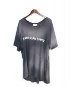 RHUDE(ルード)の古着「ダメージ加工Tシャツ」|ネイビー