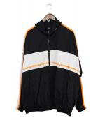 SELF MADE(セルフメイド)の古着「トラックジャケット」 ブラック×ホワイト