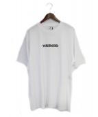 VETEMENTS(ヴェトモン)の古着「LOGO T-SHIRT」 ホワイト