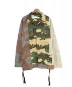 OFFWHITE(オフホワイト)の古着「ミリタリージャケット」|カーキ