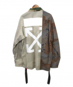 OFFWHITE(オフホワイト)の古着「Arrows Print Camouflage Jacket」|カーキ