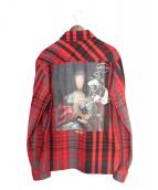 OFFWHITE(オフホワイト)の古着「19AW MARIANA DE SILVA SHIRT」|レッド×ブラック