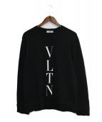 VALENTINO(ヴァレンティノ)の古着「VLTN スウェット」|ブラック